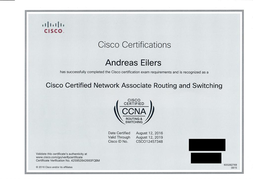 CCNA Zertifikat